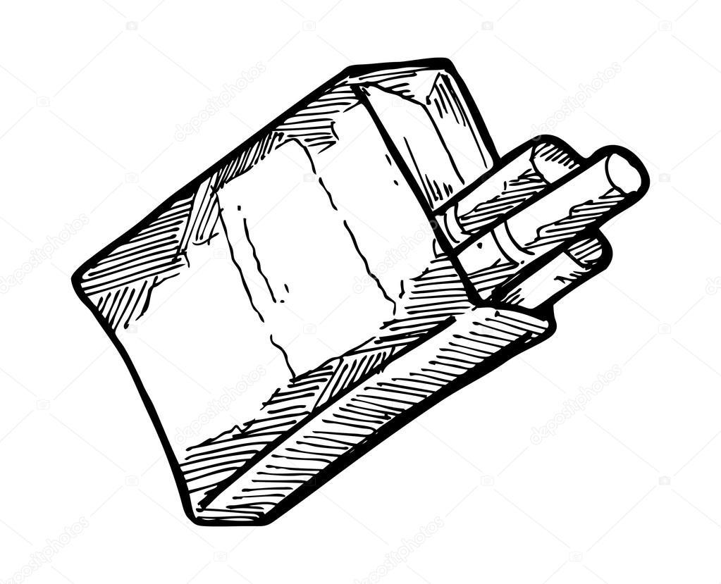 1023x829 Sketchy Cigarette Pack Stock Vector Mhatzapa