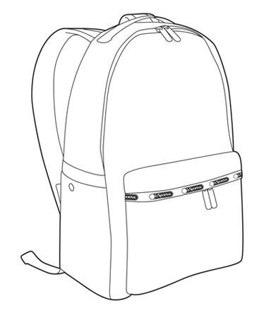 374x443 Backpack Drawing Bag Sketches Backpack Drawing