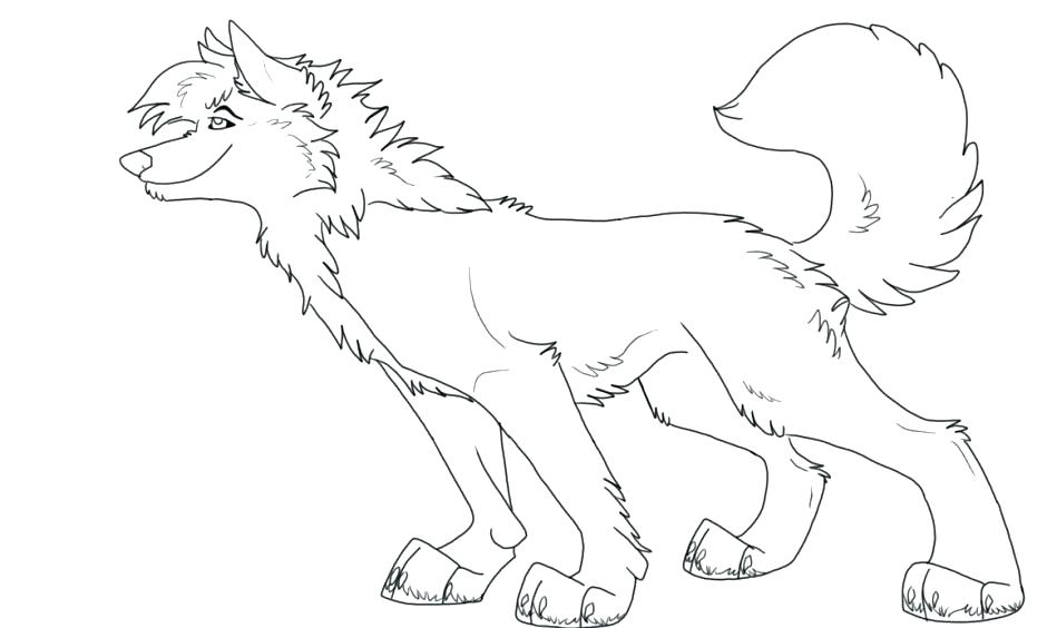 940x564 Wolf Color Page Cartoon Howling Wolf Coloring Pages Anime Wolf