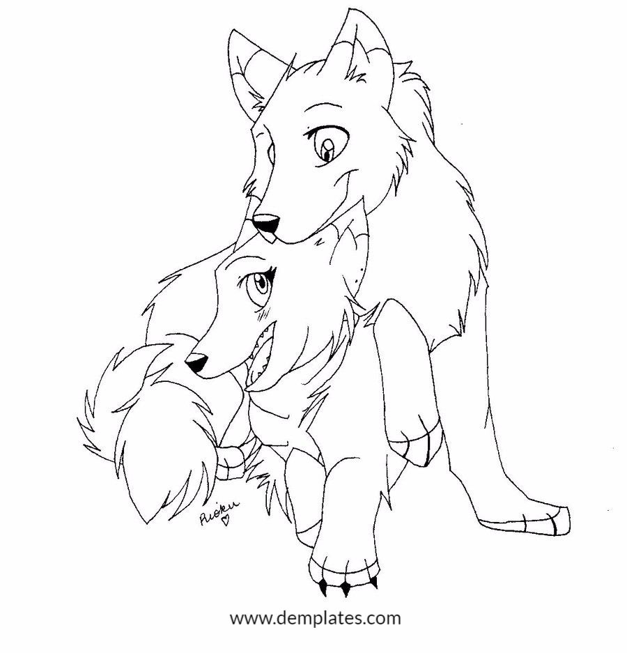 900x937 Wolf Love Drawings