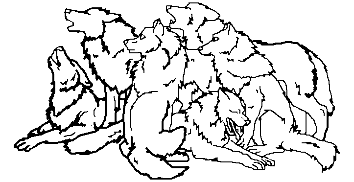 723x372 Wolf Pack Sketch Ms Paint By Charmmer