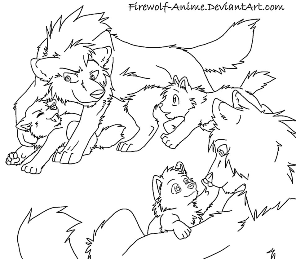 955x836 Wolf Couple Drawing Anime Wolves Wolf, Anime Wolf