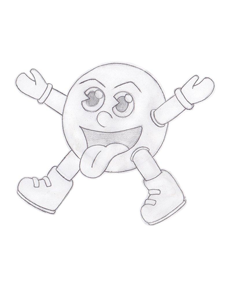 782x1022 Pac Man Sketch By Boomkey