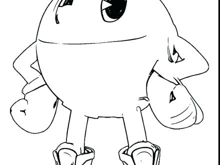 440x330 Pac Man Coloring Page Cortefocal.site