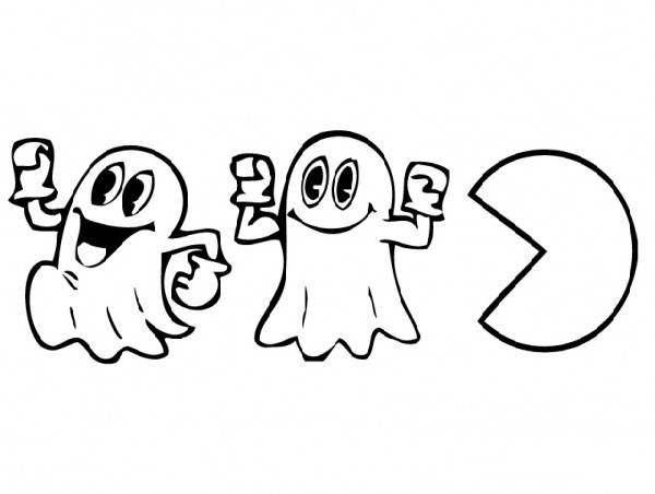 600x452 Pac Man Party Coloring Pages Pac Man Party Coloring Pages 80s