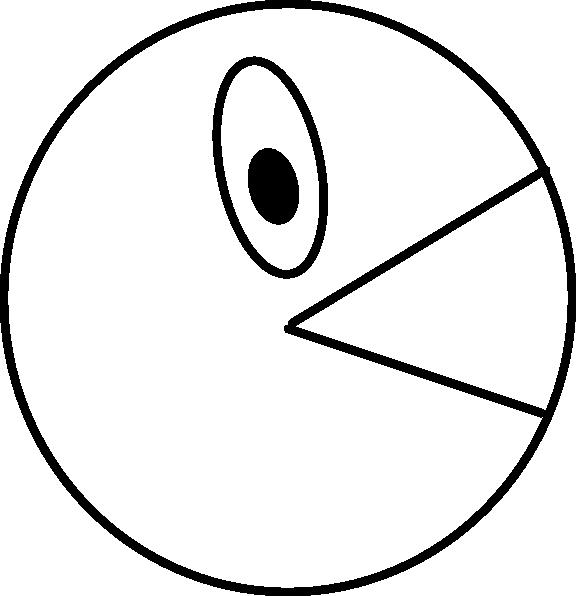 576x596 Pacman Outline Clip Art