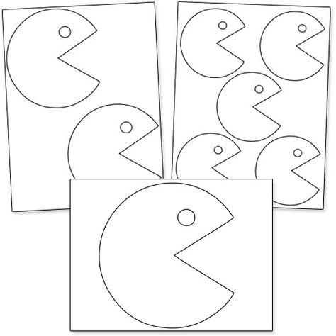 474x474 Free Pac Man Ghost Template