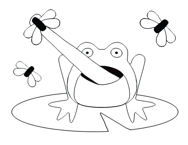 600x463 Frog Jumper Coloring Page Lily Pad Coloring Page Cartoon Frog
