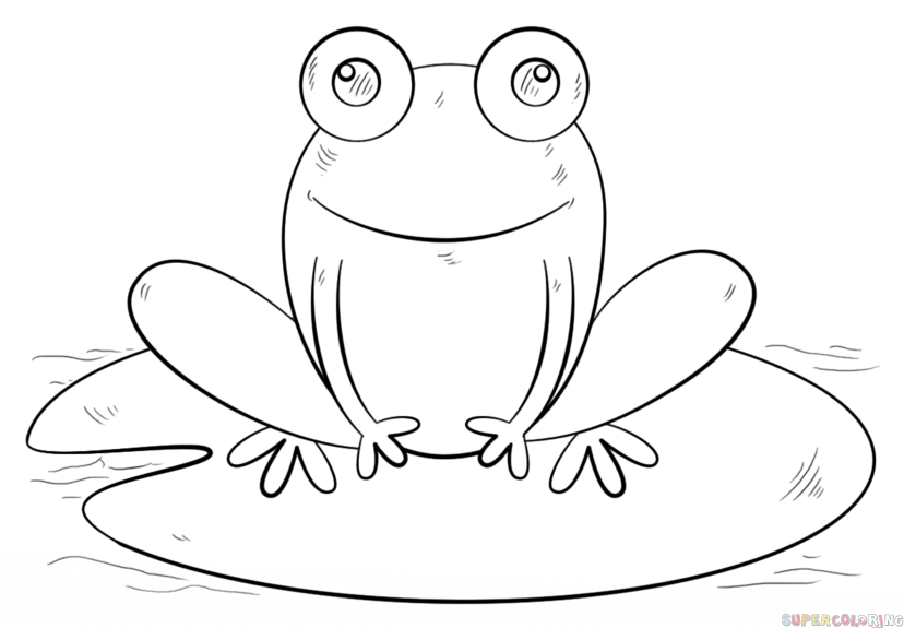 828x575 How To Draw A Frog On Lily Pad Step By Step Drawing Tutorials
