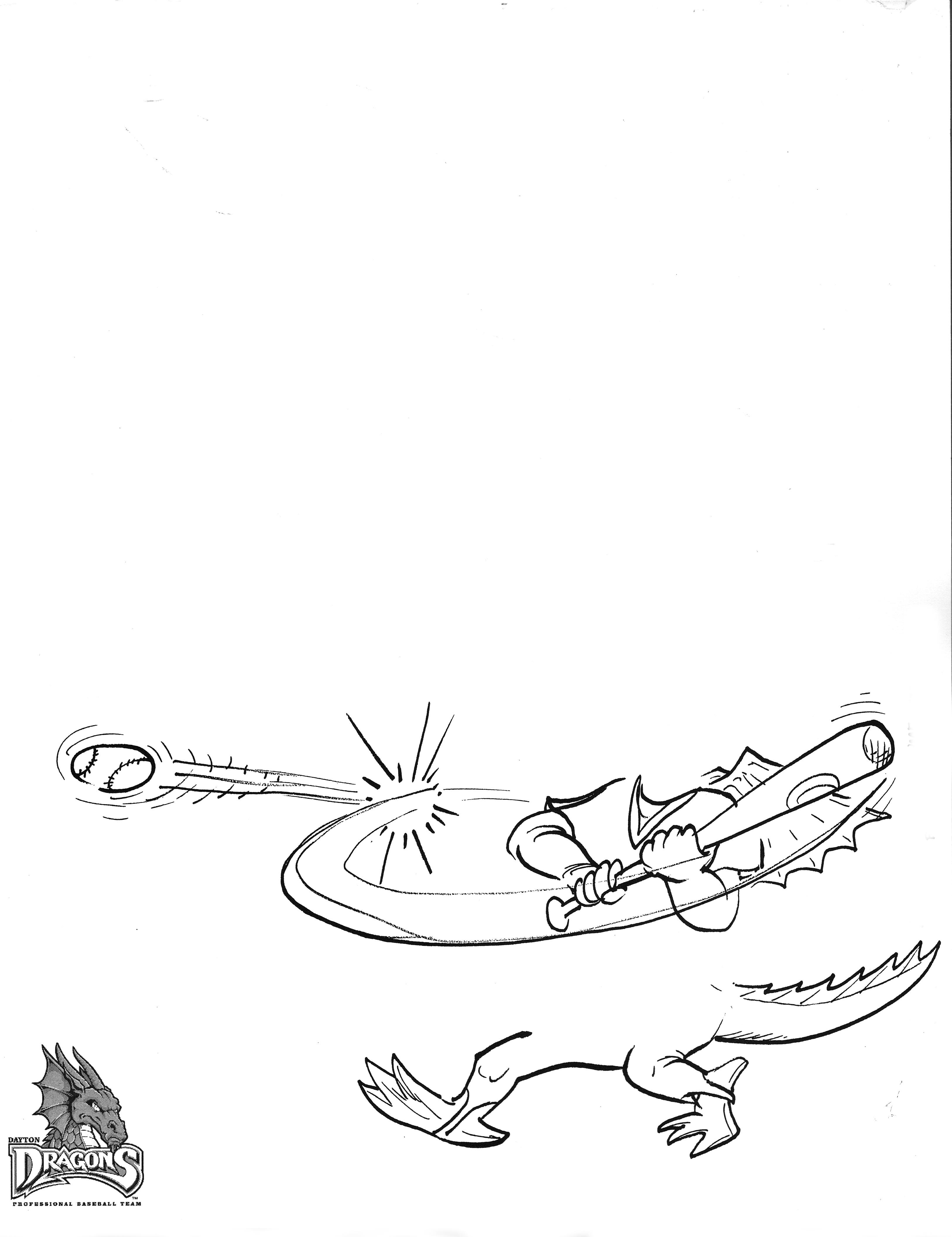 3252x4224 Dayton Dragons Sketch Pad Drawme