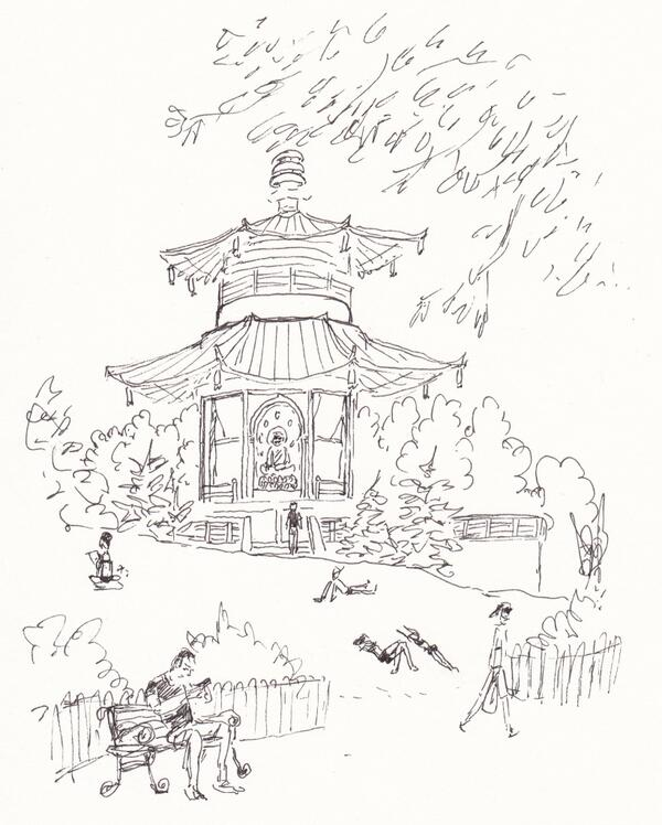 600x748 The Buddhist Peace Pagoda In Battersea Park Charles Dietz