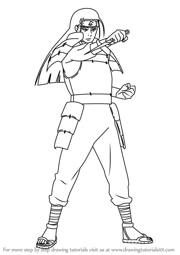 598x844 Learn How To Draw Hashirama Senju From Naruto (Naruto) Step By