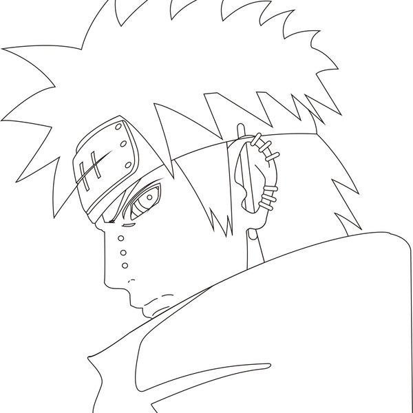 600x600 Naruto Pain Outline By Kriticalphenomenon