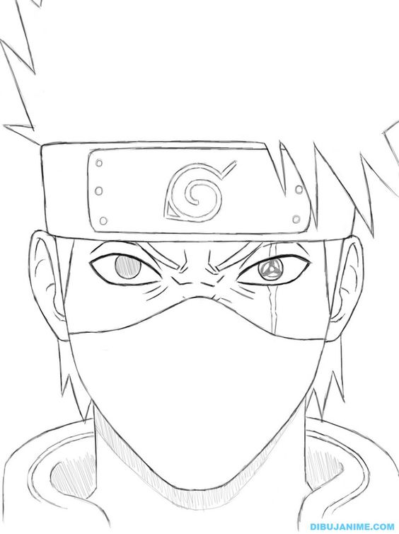 564x754 Naruto Kakashi Coloring Page