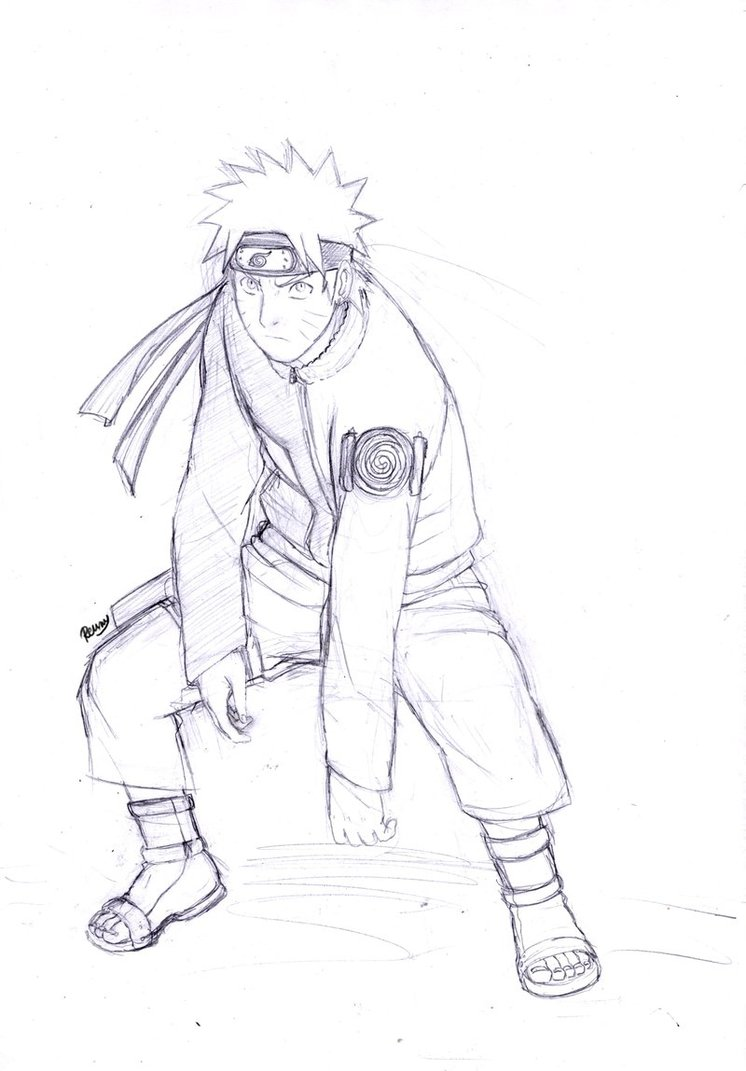 746x1071 Naruto Sketch 1 By Renny08