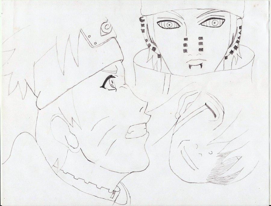 900x686 Naruto Vs Pain By Lovebysasuke