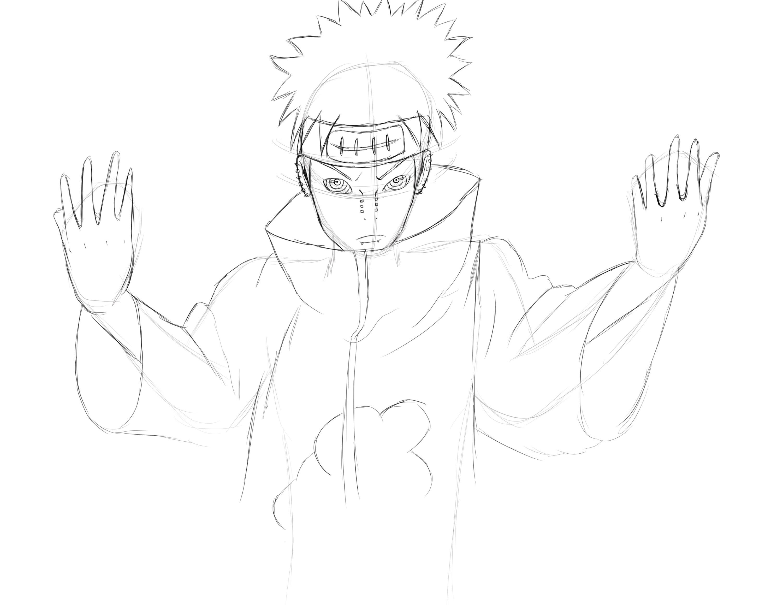 3000x2318 Sketching Pain (Naruto Shippuden)