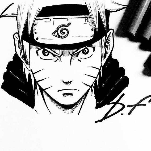 640x640 Hope You Like It Guys! Uzumaki Naruto Blackwhite, Done