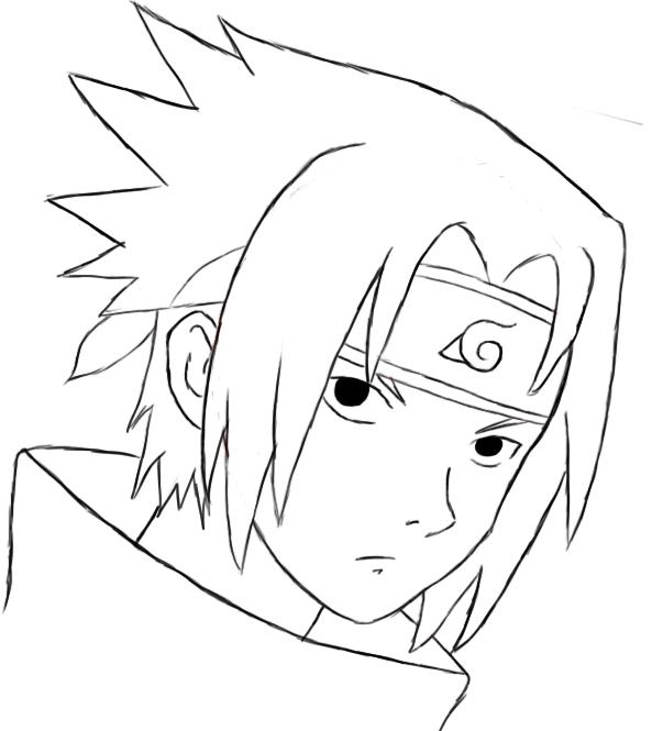 593x665 How To Draw Sasuke Sasuke, Naruto And Naruto Series