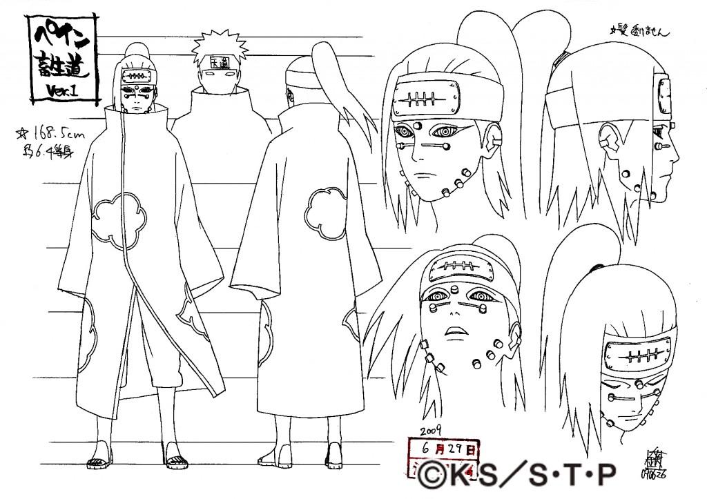 1024x723 Pain Chikushodou Reference Sheet Naruto Shippuden Reference
