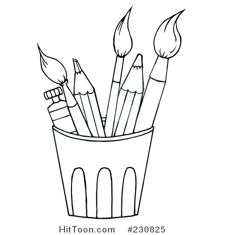 450x470 Paint Brush Coloring Page Paint The Pooh Big Brush And Paint