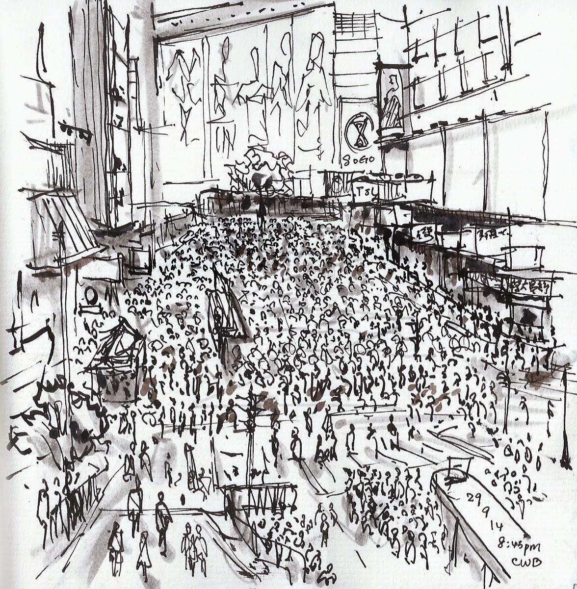 1176x1201 Eyewitness Sketches Of Hong Kong Pro Democracy Protests Urban