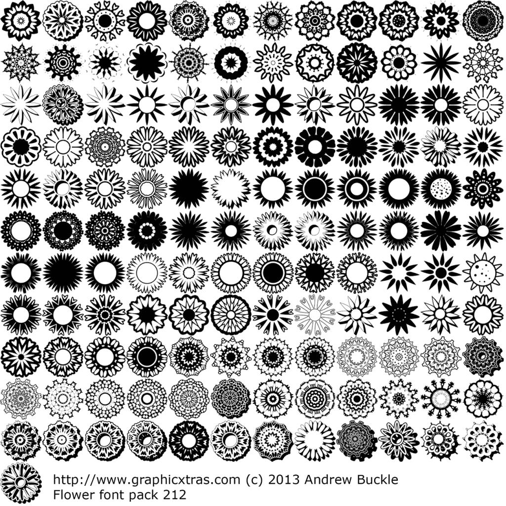 1024x1024 Flower Drawing In Coreldraw