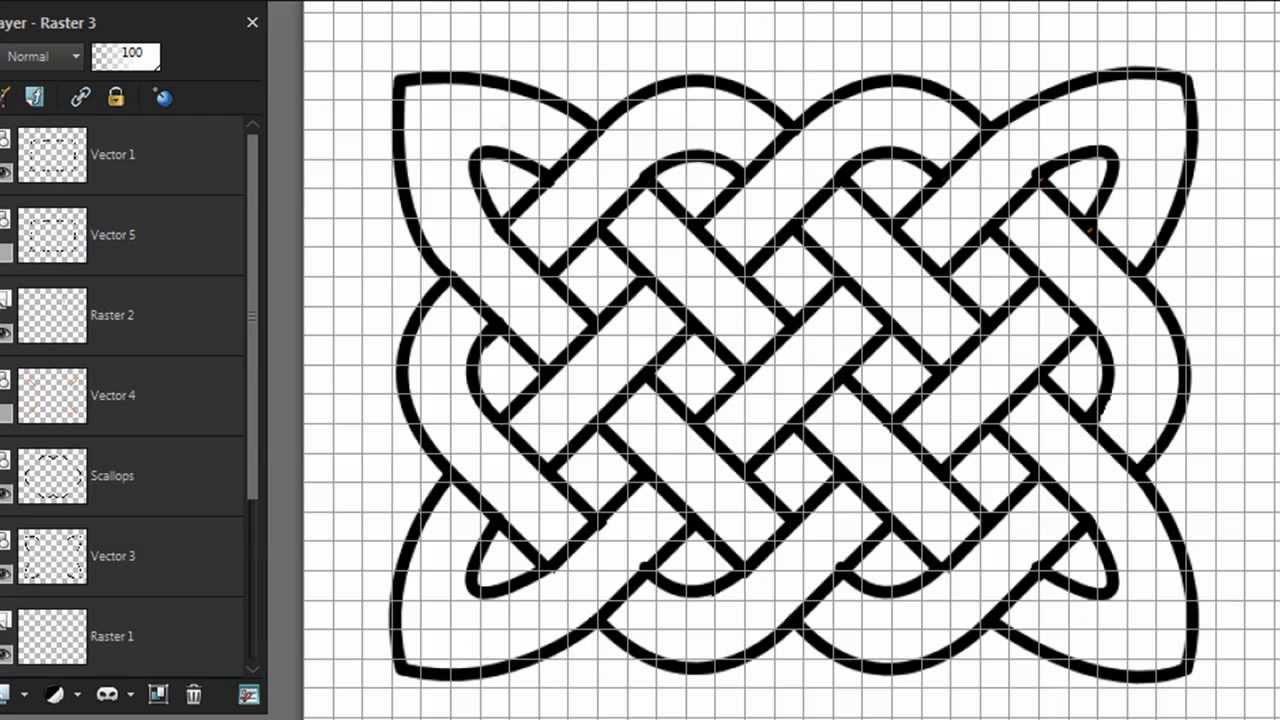 1280x720 Drawing A Celtic Knot With Paintshop Pro