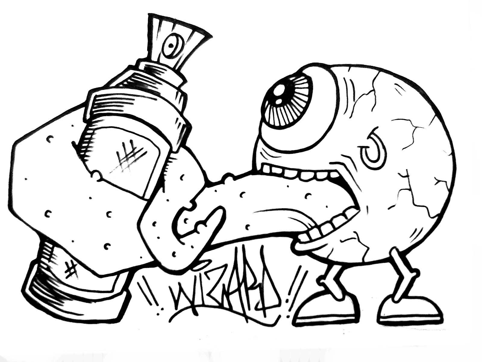 1600x1200 Graffiti Characters Spray Can.png Crazy Paint Splatter Cartoon