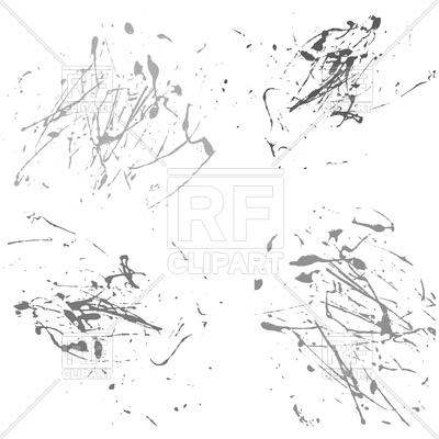 400x400 Gray splatter paint on white background Royalty Free Vector Clip