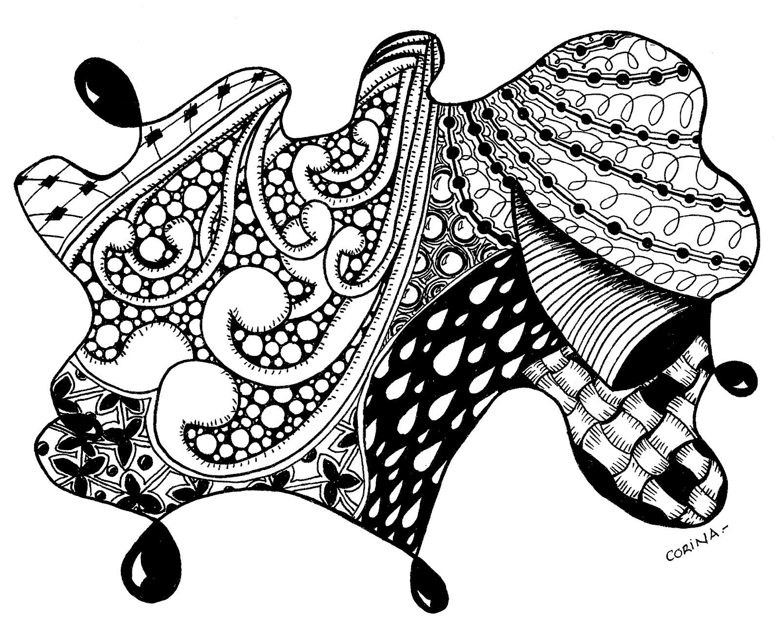 1600x1290 Pin by Drew Littwin on Zen tangle drawings Pinterest Zen tangles