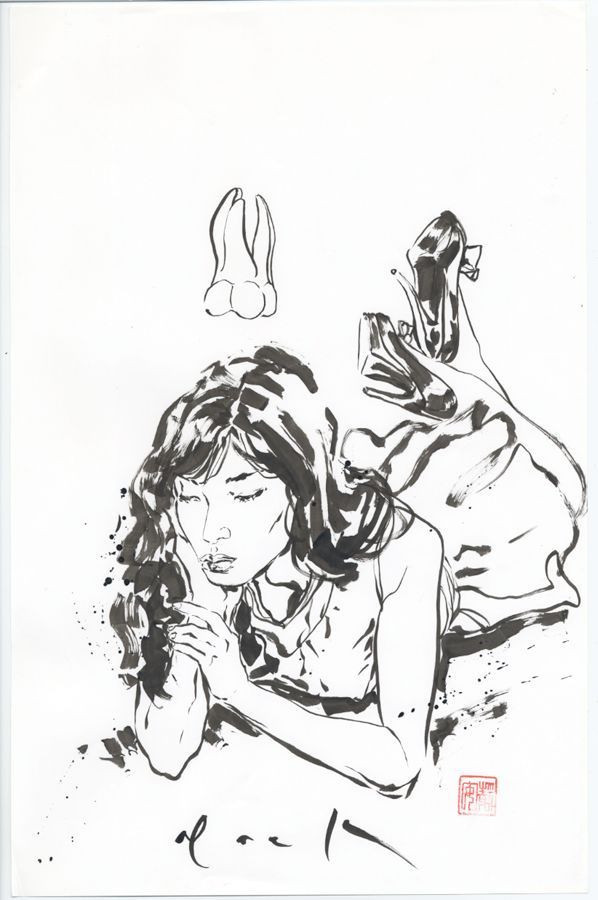598x900 David Mack Life Drawings Sumi E Brush Painting Century Guild