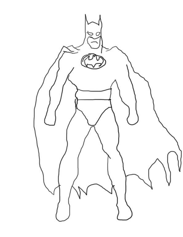 595x770 Batman Drawing Batman Painting