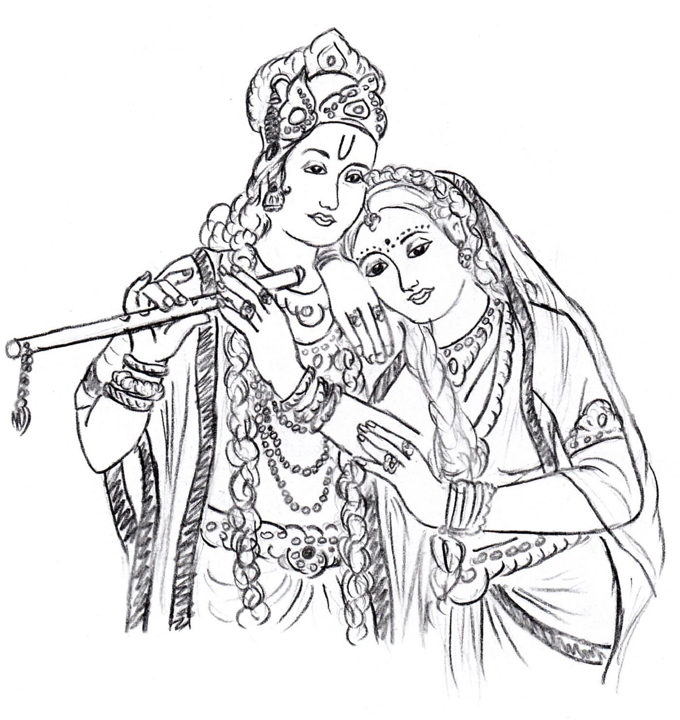 1400x1481 Radha Krishna Line Drawing Glass Painting Patterns
