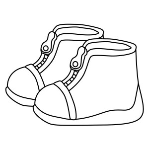 300x300 Kids Drawing Shoes Coloring Page Coloring Sky