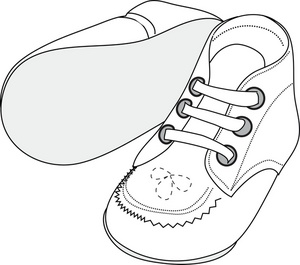 300x265 Pair Clipart Baby Shoe