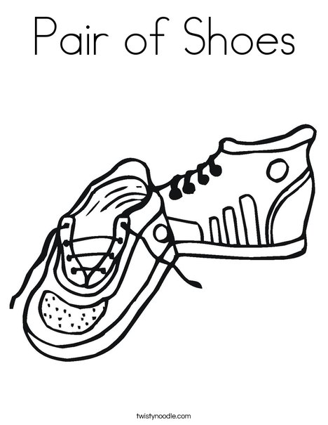 468x605 Pair Of Shoes Coloring Page