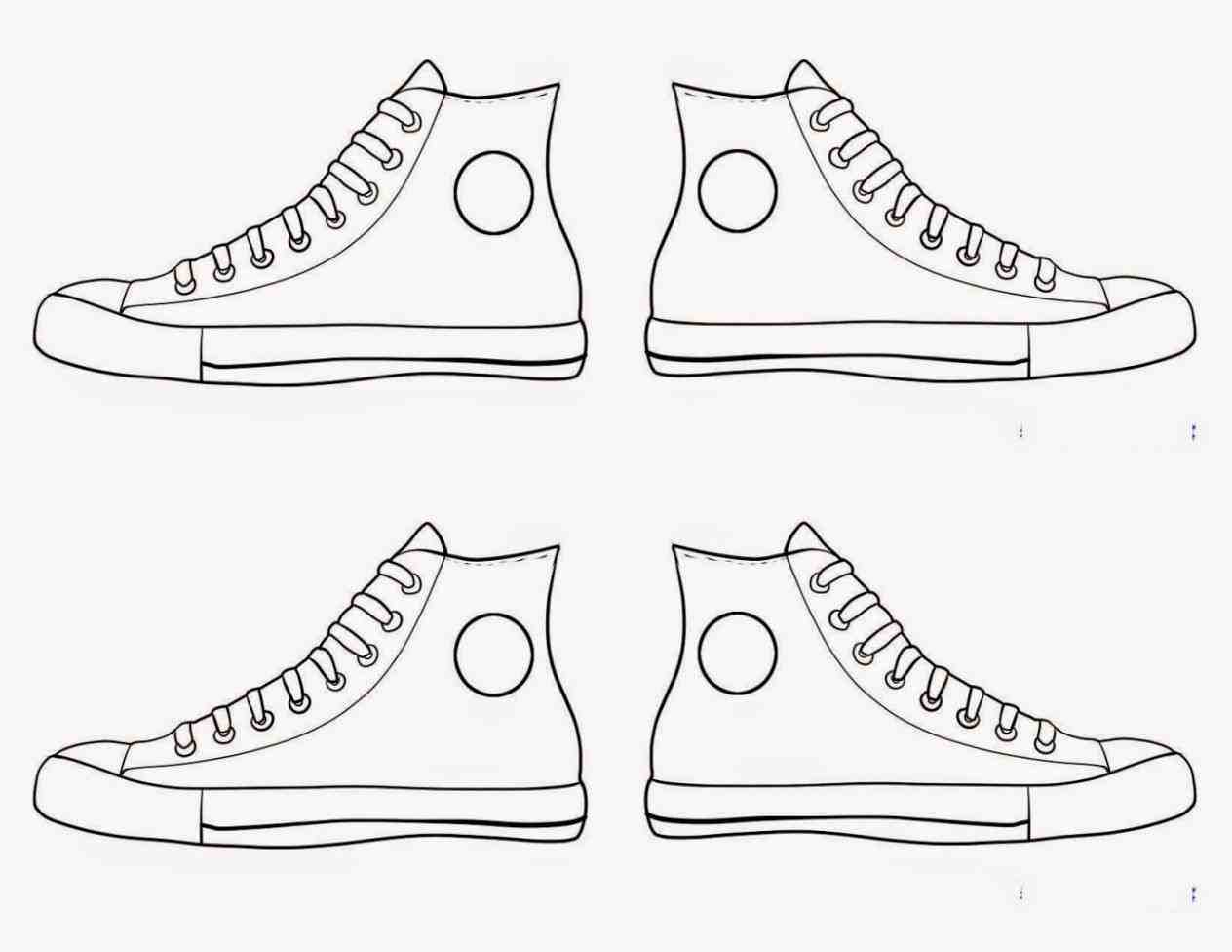 1264x976 Converse Shoes Drawing Pair