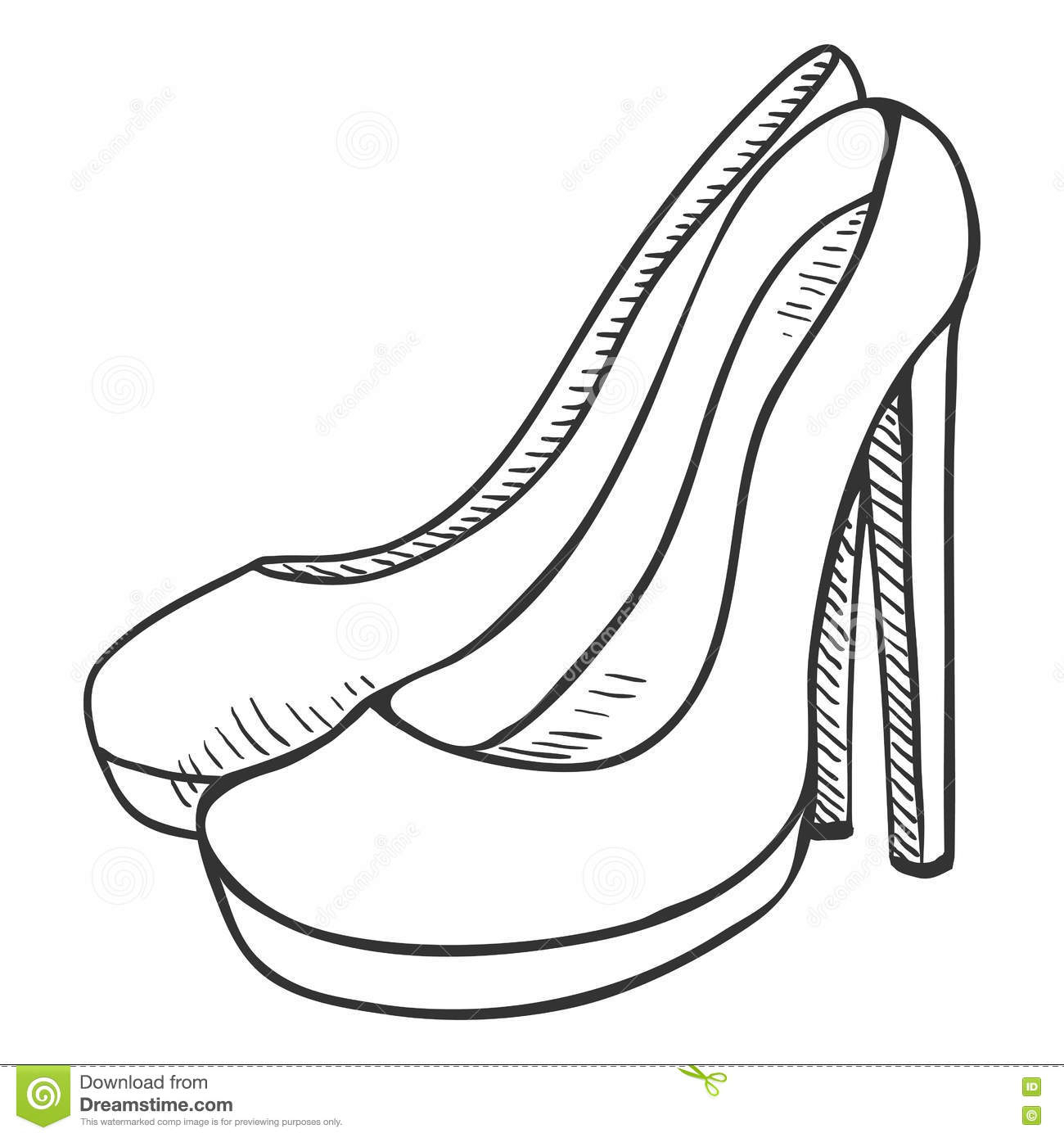 1300x1390 Cartoon Shoes Drawing Footwear High Heel Leather Shoes Cartoon
