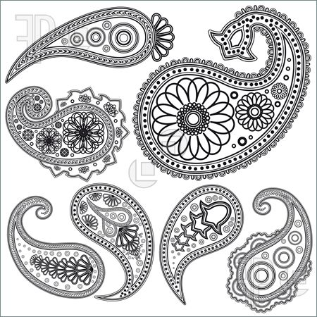 450x450 Paisley Outline How To Draw Paisley Designs Doodles