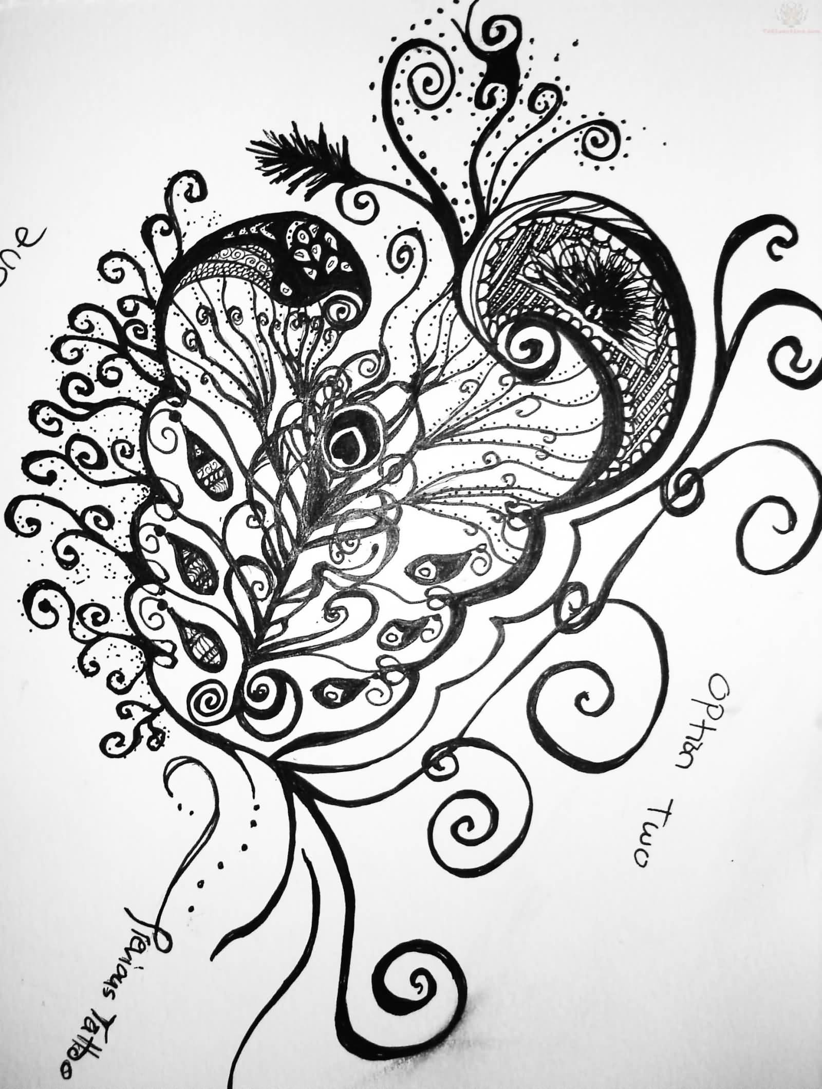 1600x2119 Paisley Pattern Tattoos Designs