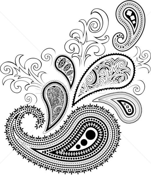 Paisley Design Drawing At Getdrawings Com Free For