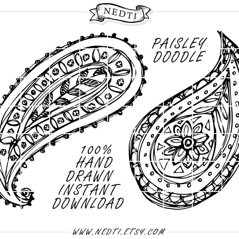 Paisley Pattern Drawing