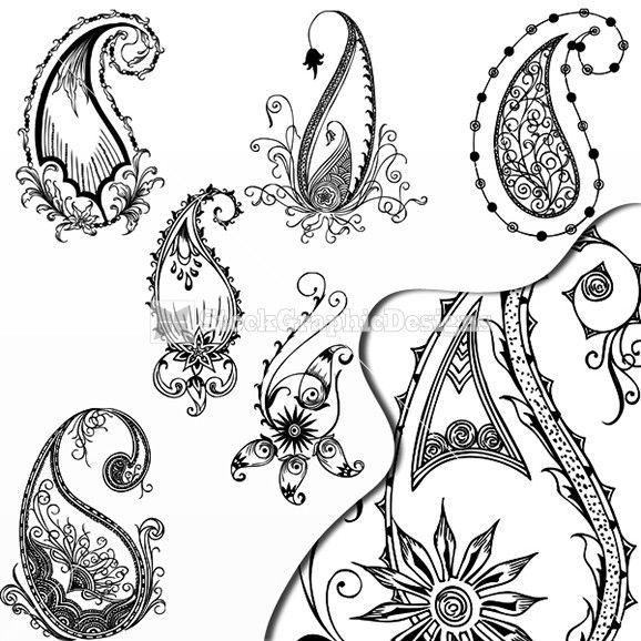 578x578 Free Paisley Designs Hand Drawn Paisley Designs Vector Set