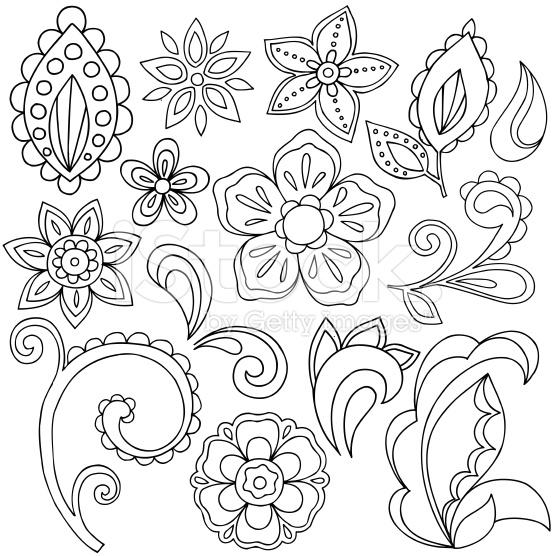 556x556 Henna Doodle Paisley Design Elements Henna Doodle, Paisley