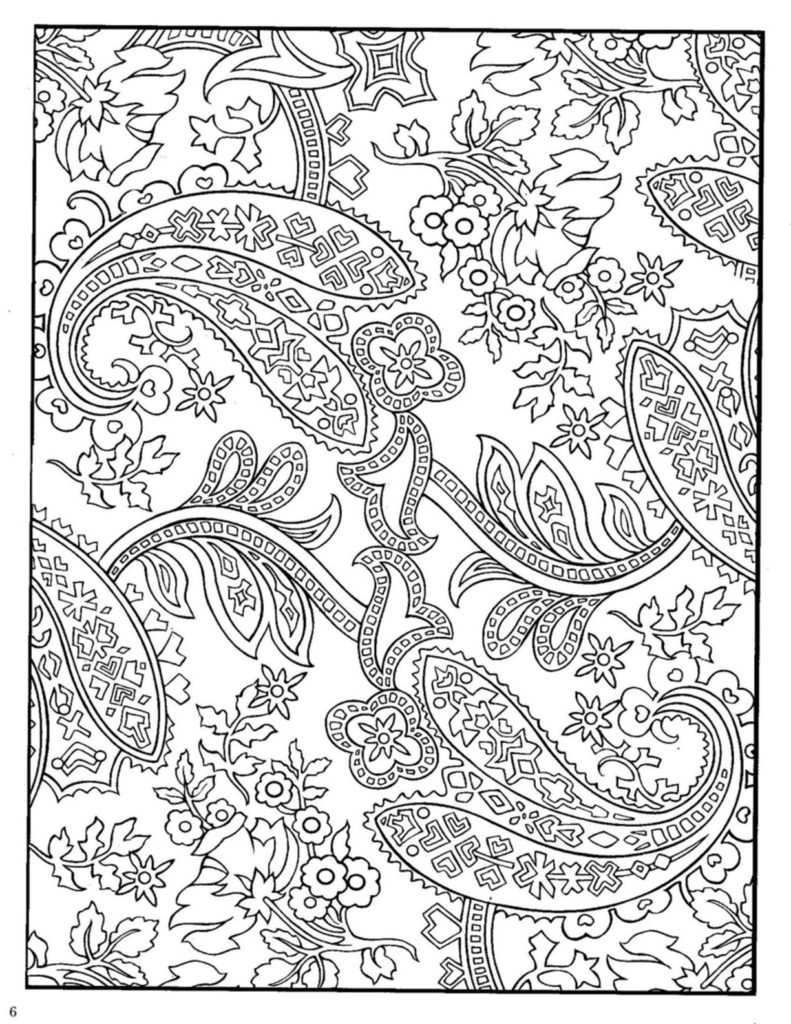 791x1024 Dover Paisley Designs Coloring Book Dover Coloring