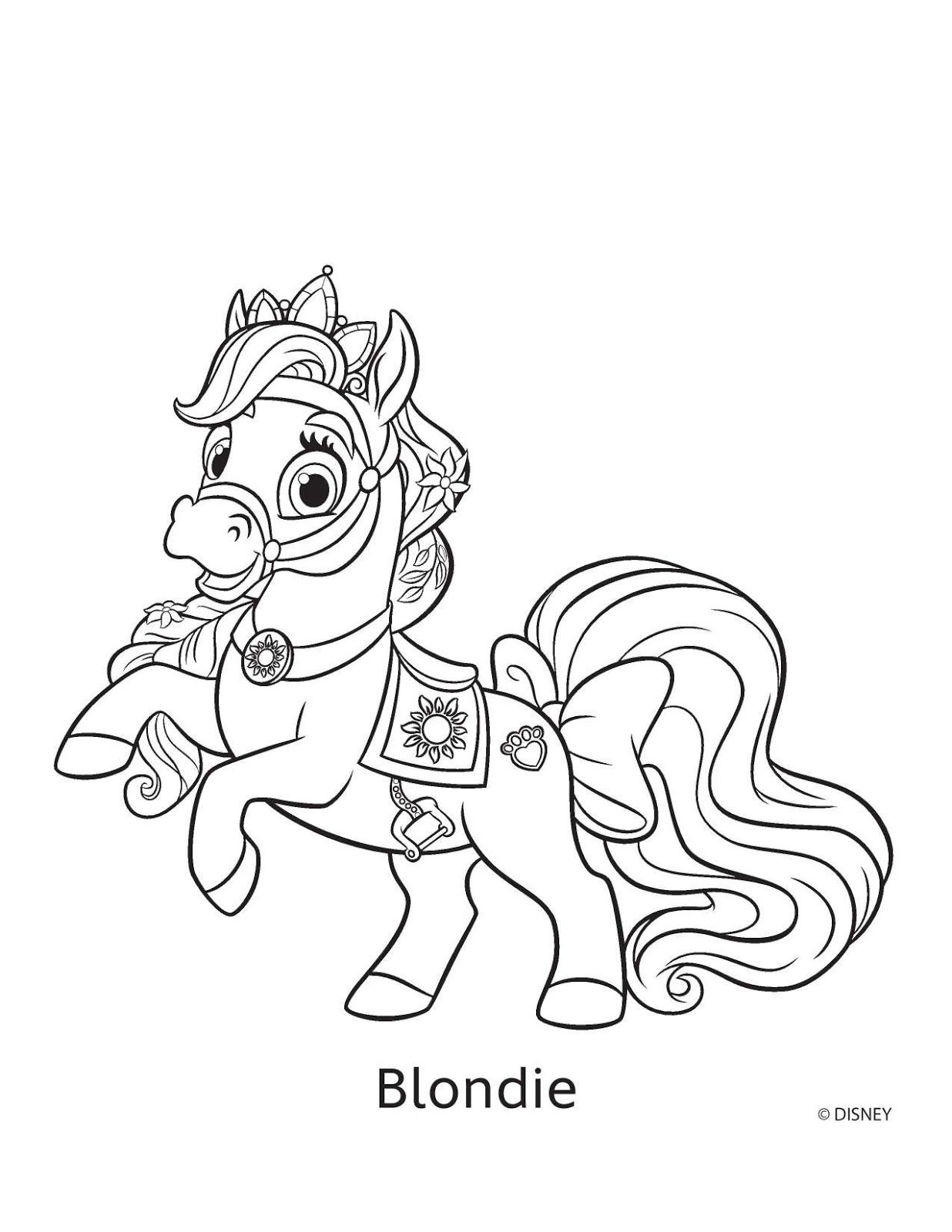 1236x1600 Palace Pets Coloring Pages Horses