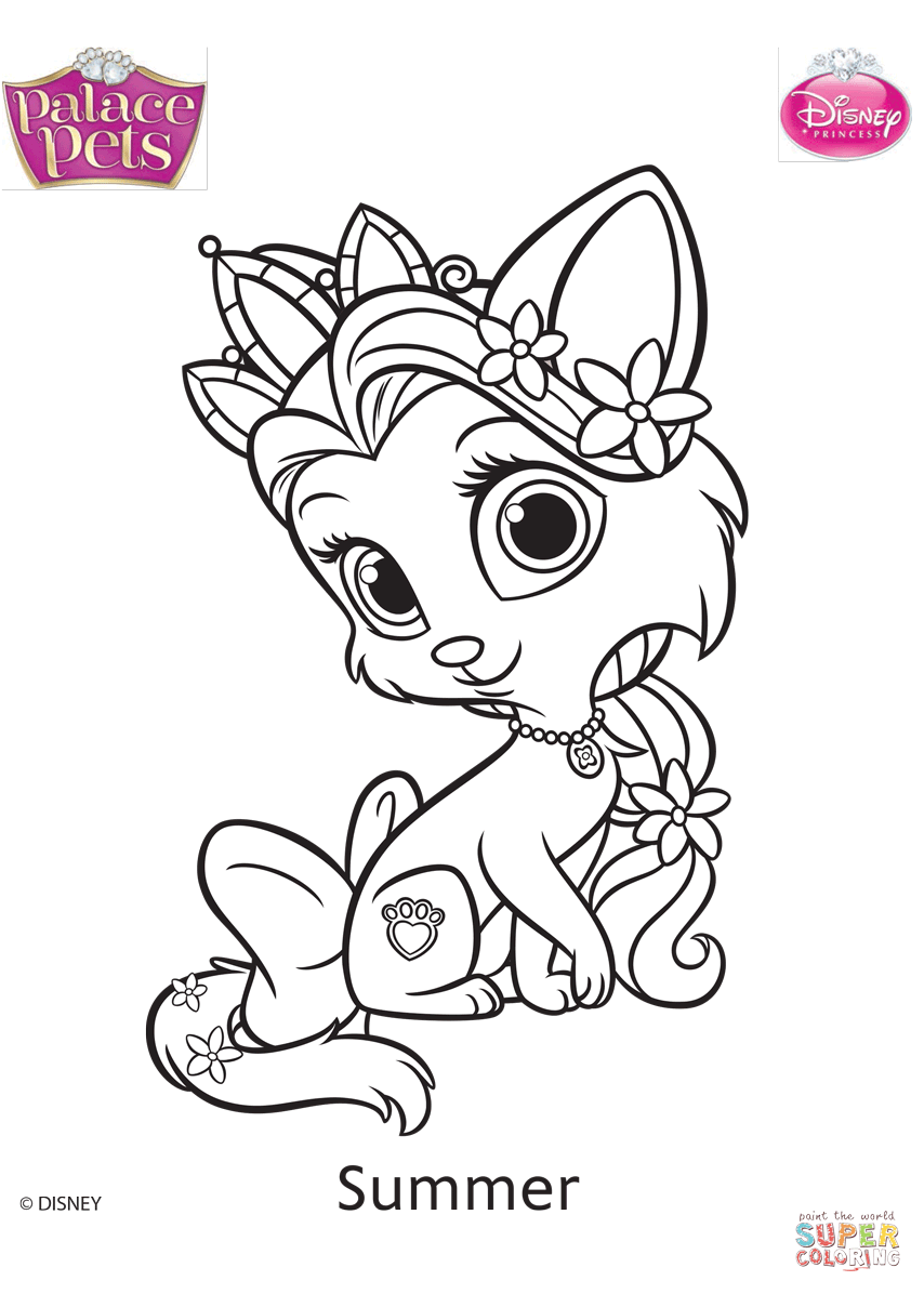 854x1196 Palace Pets Summer Coloring Page Free Printable Coloring Pages