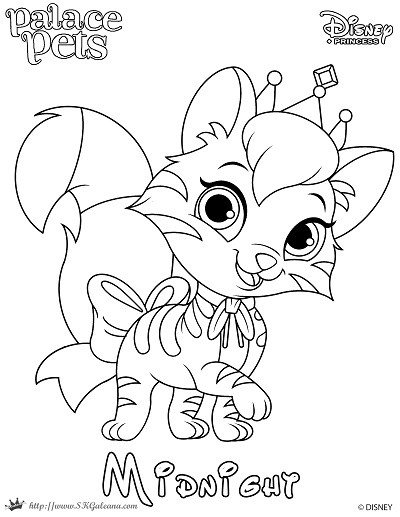 400x517 Princess Palace Pet Coloring Page Of Midnight SKGaleana