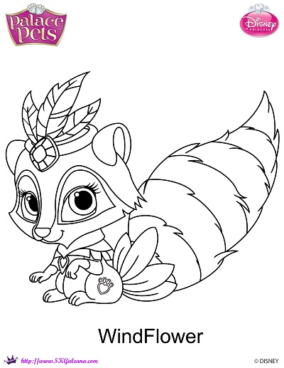 400x517 Princess Palace Pet Windflower Coloring By Skgaleana